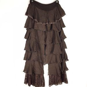 Boutique ruffle pants size L